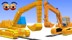 cube builder for kids hd build a digger excavator for