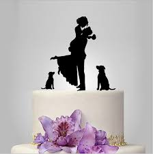 cake topper with dog unique wedding cake topper dog cake toppers with groom lifting