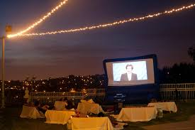 backyard movie party outdoor furniture design and ideas