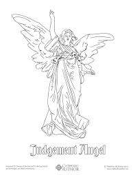 biblical angel free hand drawn catholic coloring pictures
