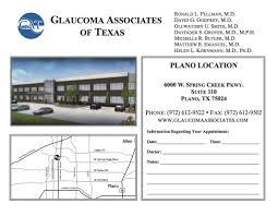 Plano Tx Map Plano Office Glaucoma Associates Of Texas