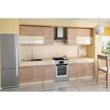cuisine en bois cdiscount cuisine complète de 2m60 elise couleur bois achat vente cuisine