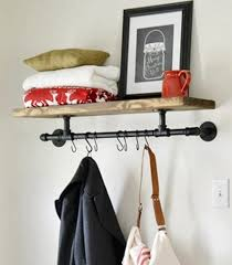 industrial 48 entryway shelf industrial pipe shelves