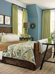 blue green bedroom living room decoration