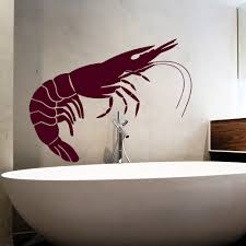 aliexpress com buy seafood vinyl wall decal lobster giant shrimp