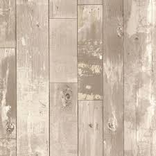Distressed Wood Wall Panels by Brewster Heim Grey Distressed Wood Panel Wallpaper 2718 20130