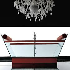 ws bath collections milo 72 inch modern glass freestanding tub