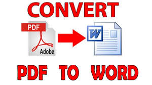 Pdf To Word How To Convert Pdf To Word Document