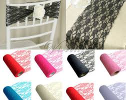 diy chair sashes lace chair sash etsy