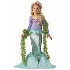 pink wig spirit halloween lil u0027 mermaid child halloween costume walmart com