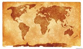 World Treasure Map by Grunge Textured World Map For Ppt Presentations U2013 Free Ppt Backgrounds