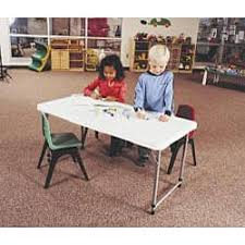 Lifetime Adjustable Table Lifetime 4 Foot Adjustable Height Fold In Half Table Free