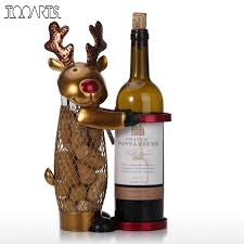 online shop netted christmas elk wine rack animal wine holder cork