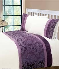 aubergine colour modern stylish damask bedding quality duvet quilt cover set
