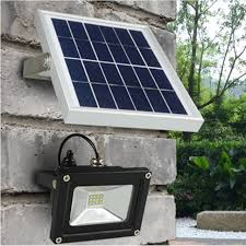 solar powered led flood lights dbf solar powered led flood light 10w outdoor l waterproof ip65