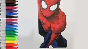 spiderman wall coloring pages amazing spiderman