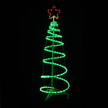 green spiral tree led rope light decoration indoor outdoor