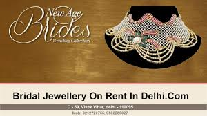 wedding jewellery for rent bridal jewellery on rent in delhi wedding collection