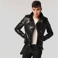 black motorbike jacket schott 613sh men u0027s horsehide motorcycle jacket brooklyn denim co