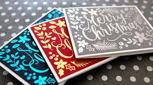 diy foil u0026 color printables hand painted christmas card