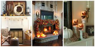 Autumn Home Decor 35 Fall Mantel Decorating Ideas Halloween Mantel Decorations