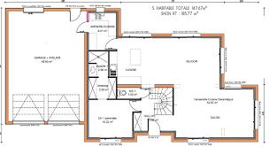 plan de maison a etage 5 chambres maison 5 chambres avec etage