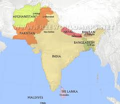 Political Map Of South Asia by South Asia By Freeworldmaps Net