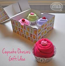 baby shower gift ideas cupcake onesies gift idea