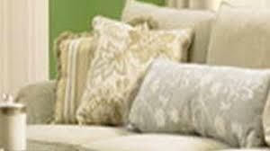 simplistic interior design cream leather ottoman coffee table blue