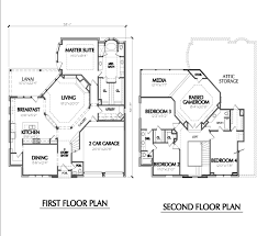 Cabin Blueprint by Floor Plan 2 Story House Escortsea