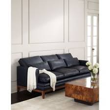Navy Leather Sofa steve silver hendrix sofa w 2 accent pillows in navy blue leather