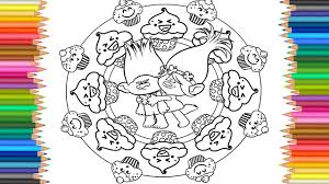 trolls coloring pages branch and poppy giant cupcake coloring