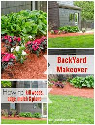 How To Mulch Flower Beds Flower Bed Makeover Before And After Four Generations One Roof