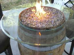 wine barrel fire table wine barrel bistro fire pit and more youtube