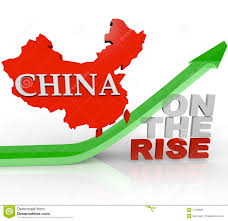China On Map by China On The Rise Country Map On Arrow Stock Image Image 17330681