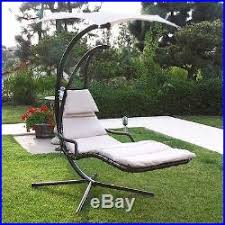Hanging Chaise Lounge Chair Hanging Chaise Lounger Chair Porch Deck Patio Swing Hammock Canopy