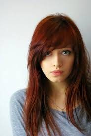 straight hairstyle with side bangs on round face with side bangs