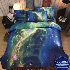 themed bed sheets home textile 3d galaxy bedding sets size universe outer