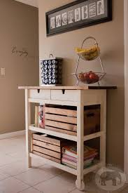 ikea kitchen cart makeover annie sloan chalk paint in old white