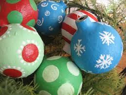 paper mache ornaments from the blue cricket trendy