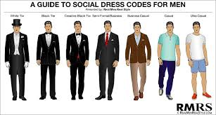 attire men men s dress code guide 7 levels of dress code etiquette black