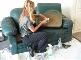 Change Color Of Leather Paint Vinyl YouTube - Hunter green leather sofa