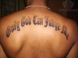 only god can judge me arm