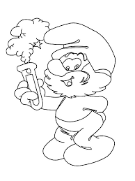 papa smurf coloring pages free printable papa smurf coloring pages