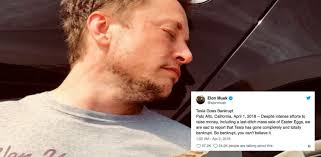 Elon Musk Musk Announces Tesla Is Bankrupt In April Fools Day Tweet