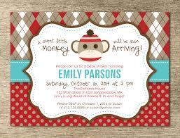 sock monkey baby shower invitations theruntime com
