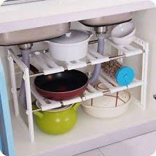 easy home expandable under sink shelf under sink organizer ebay