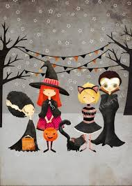 halloween the boo crew print by thefoxandtheteacup halloween