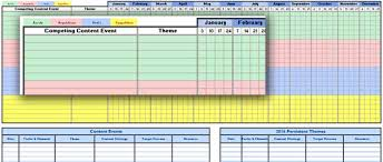 what is a marketing calendar example of a social media content