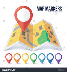 Map Point Red Vector Map Point Marker On Stock Vector 375369196 Shutterstock